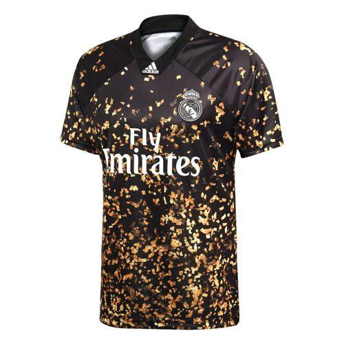 adidas Real Madrid EA Voetbalshirt 2019-2020 Zwart Goud