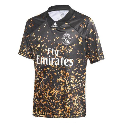 adidas Real Madrid EA Voetbalshirt 2019-2020 Kids Zwart Goud