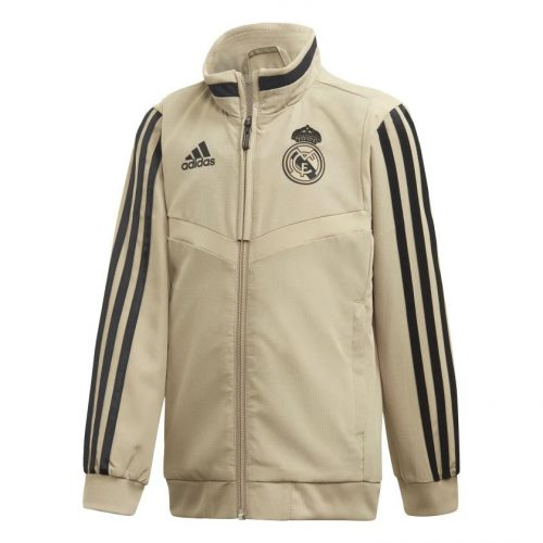 adidas Real Madrid Presentatie Trainingsjack 2019-2020 Kids Goud Zwart