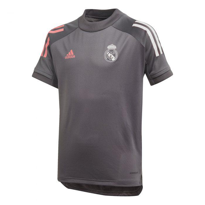 adidas Real Madrid Trainingsshirt 2020-2021 Kids Grijs