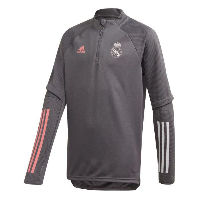adidas Real Madrid Trainingstrui 2020-2021 Kids Grijs
