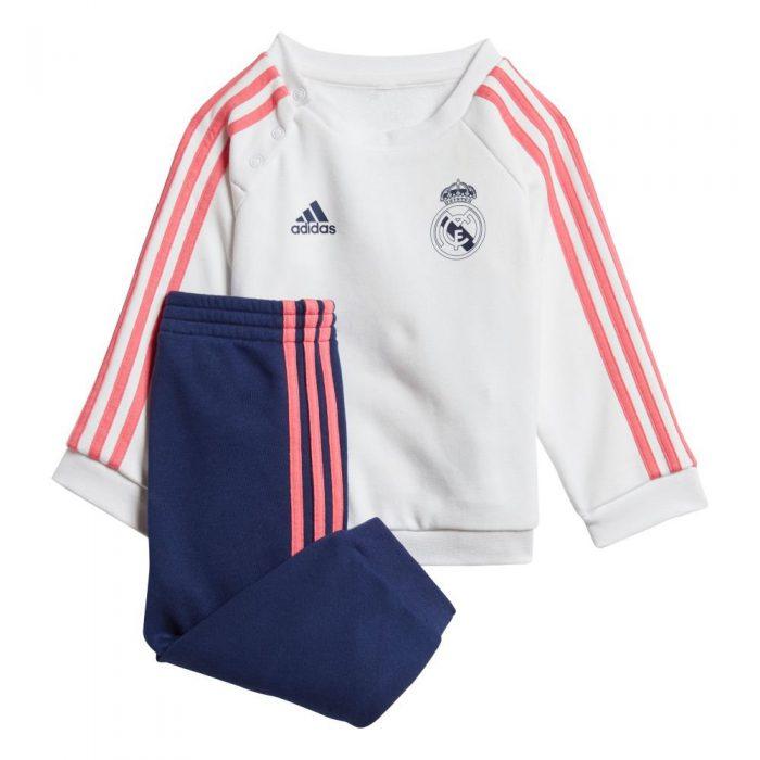 adidas Real Madrid 3S Babypak 2020-2021 Wit Donkerblauw