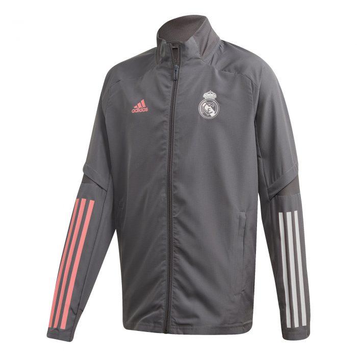 adidas Real Madrid Trainingsjack 2020-2021 Kids Grijs