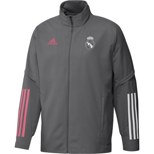 adidas Real Madrid Trainingsjack 2020-2021 Grijs