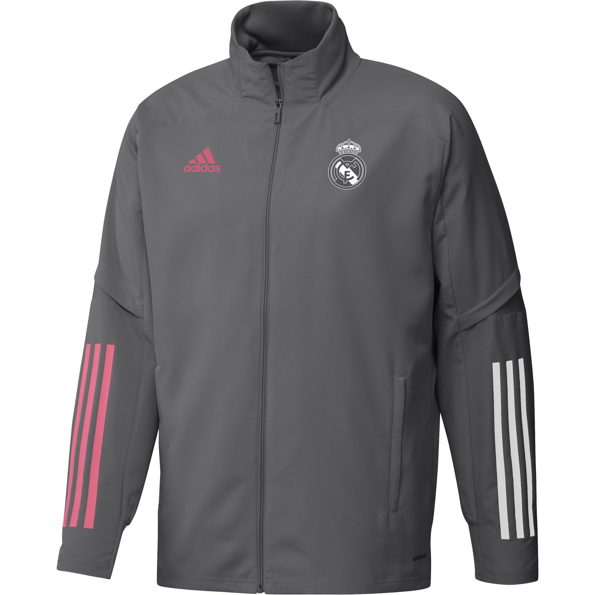 adidas Real Madrid Trainingsjack 2020-2021 Grijs