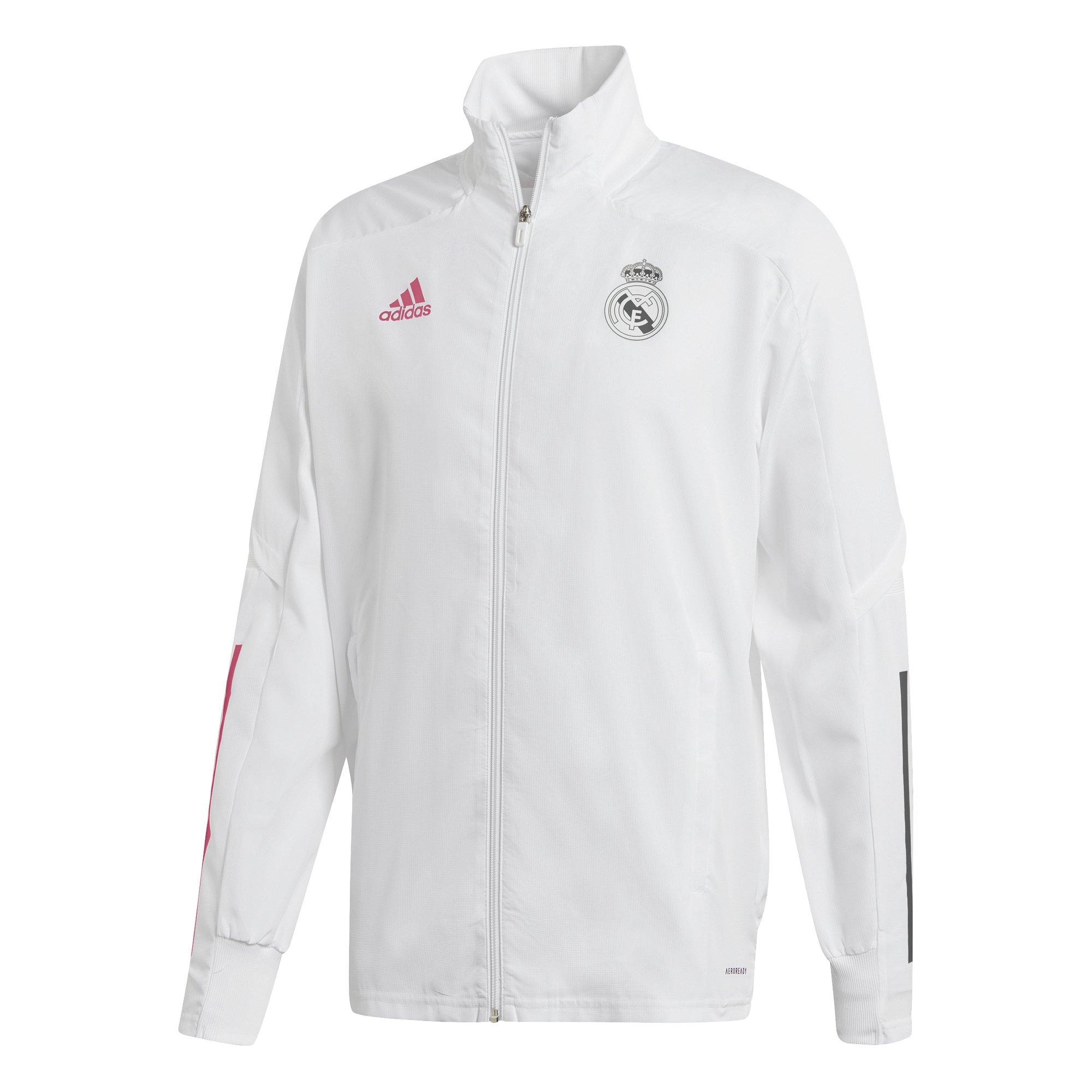 adidas Real Madrid Trainingsjack 2020-2021 Wit