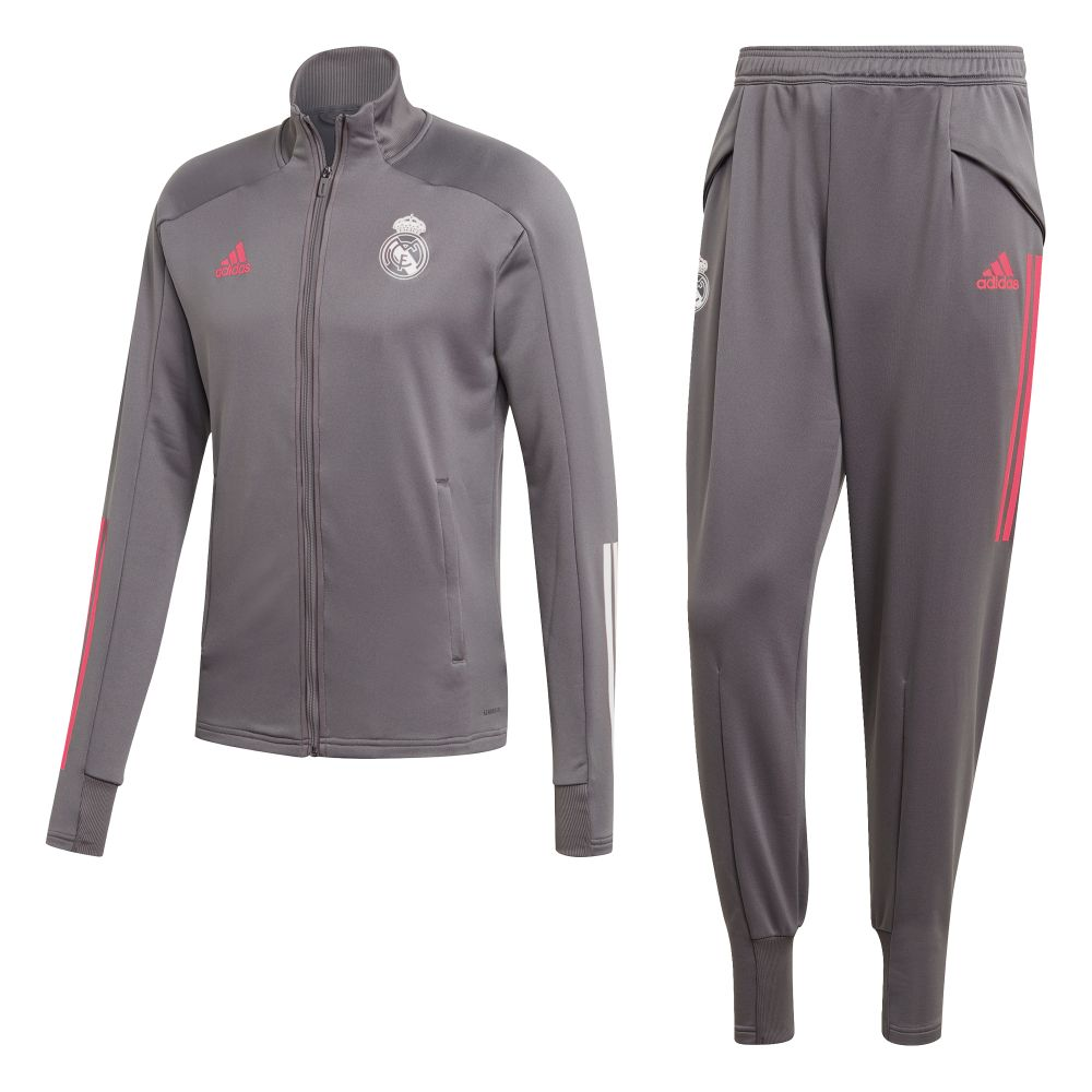 adidas Real Madrid Trainingspak 2020-2021 Grijs