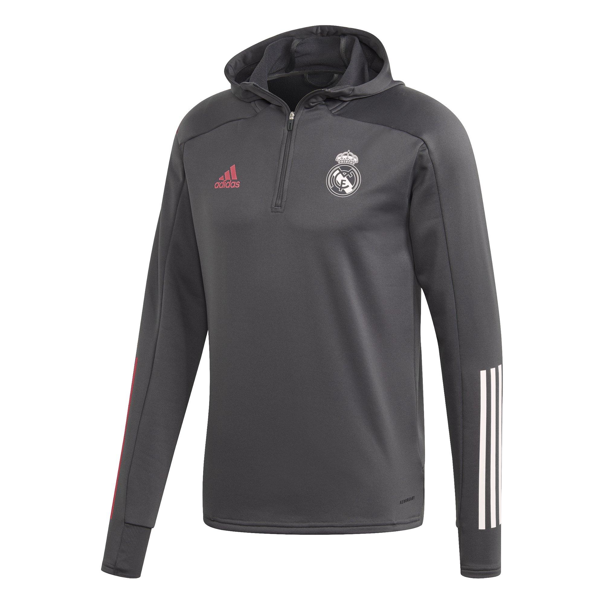 adidas Real Madrid Track Hoodie 2020-2021 Grijs