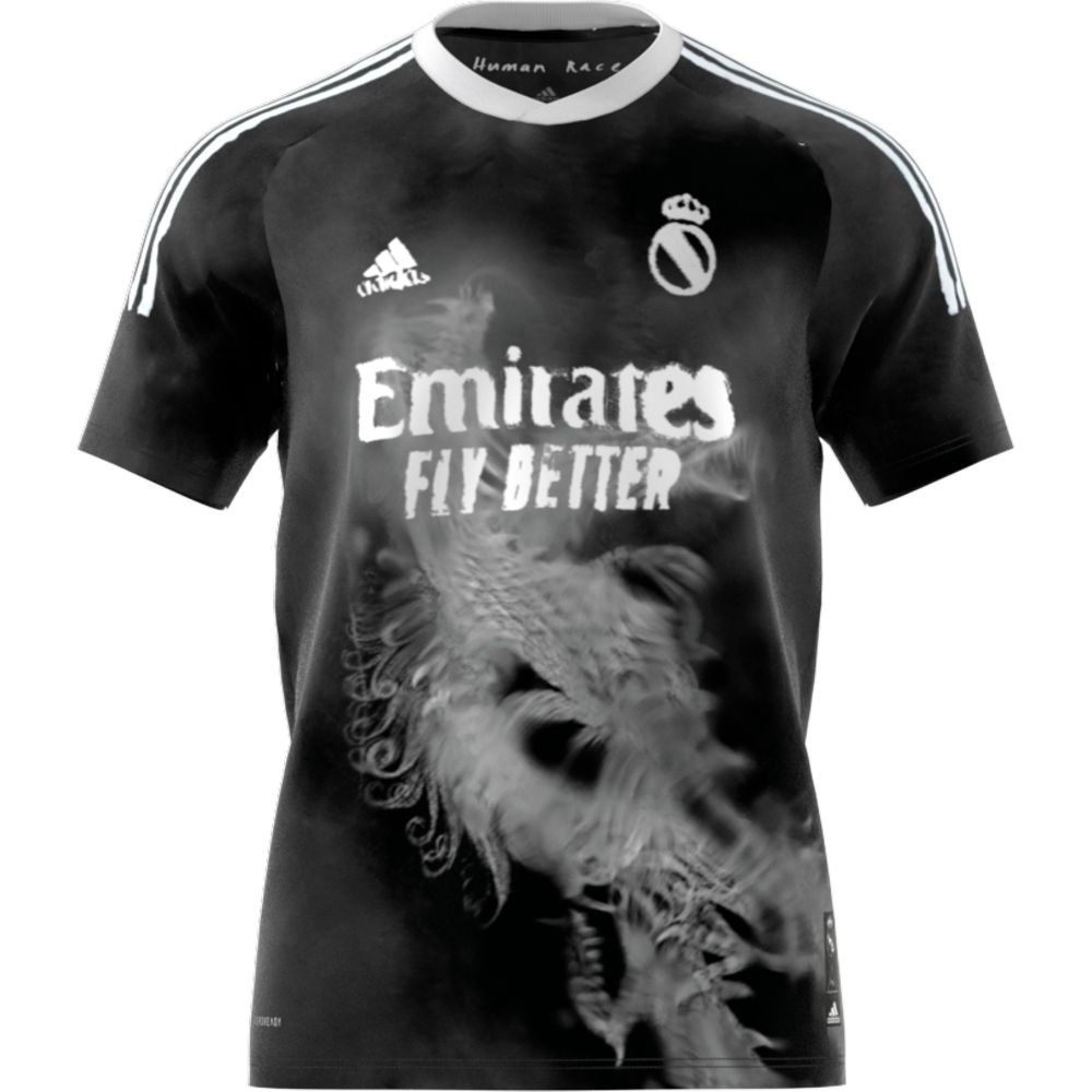 adidas Real Madrid HUFC Voetbalshirt 2020-2021 Zwart Wit