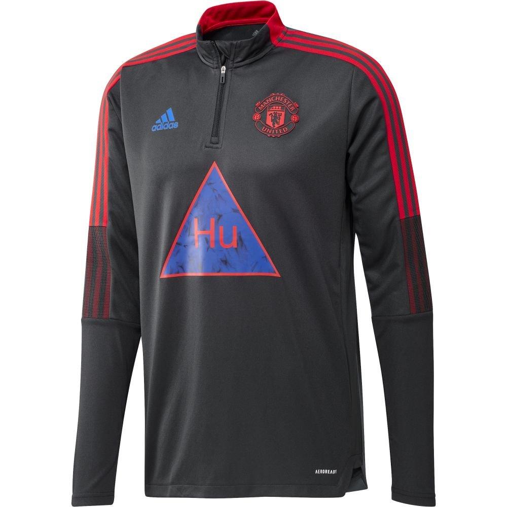 adidas Manchester United HUFC Trainingstrui 2020-2021 Donkergrijs