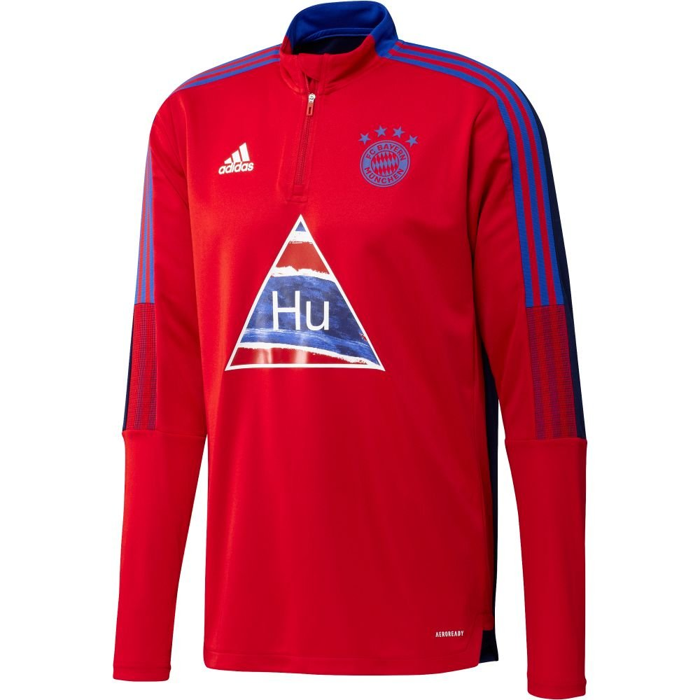 adidas Bayern Munchen HUFC Trainingstrui 2020-2021 Rood Blauw