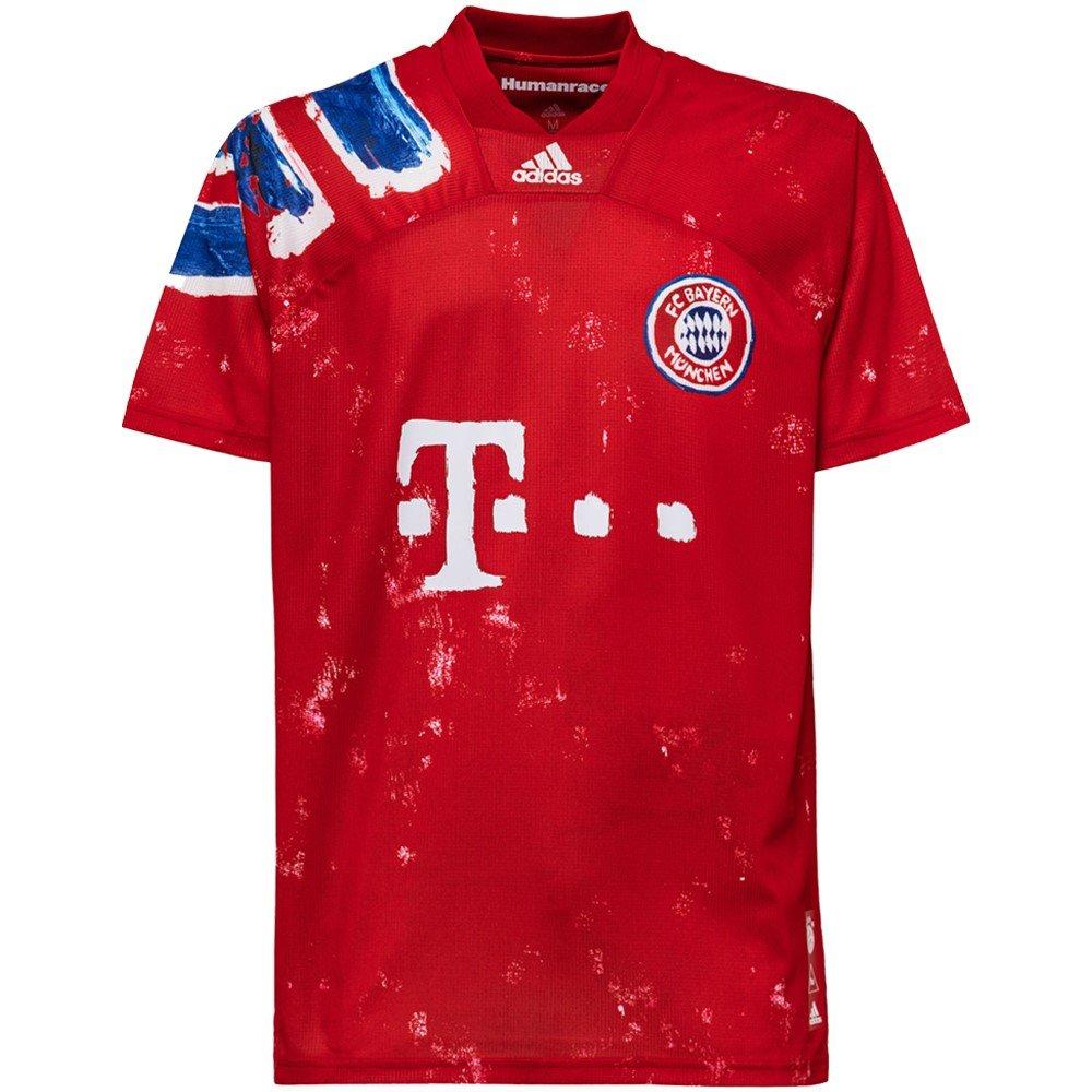adidas Bayern Munchen HUFC Voetbalshirt Rood Wit